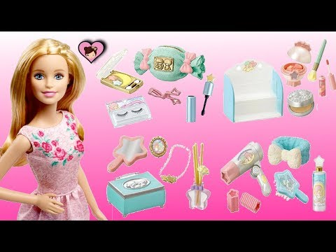Barbie Doll Miniature Make up Collection - Dollhouse Toy Unicorn Cosmetic Rement
