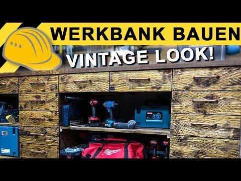 Schönste Werkbank auf YouTube! Vintage Werkbank aus Holz bauen | Werkstatt VLOG #03