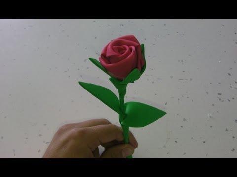 manualidades:-rosa-de-goma-eva-paso-a-paso-(rose-foamy)