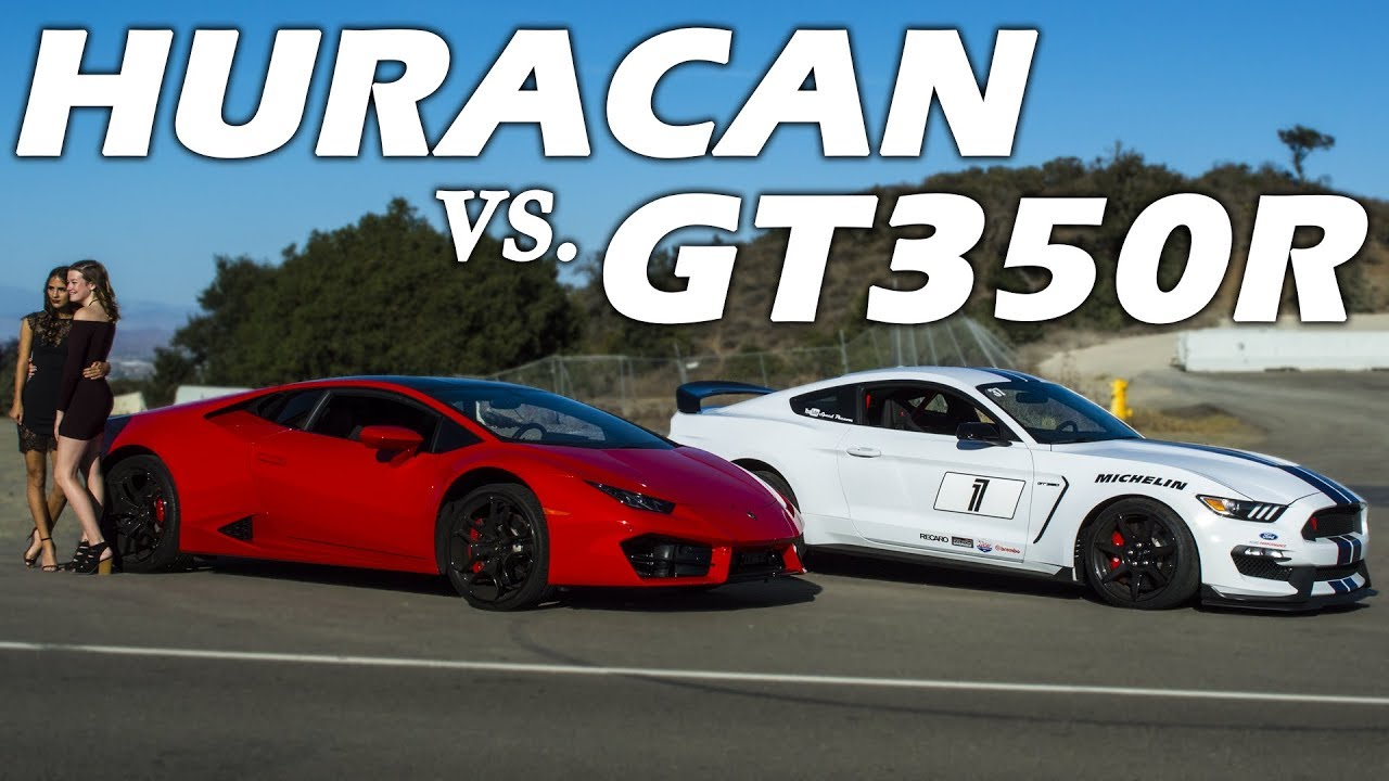 Shelby gt350r vs the lamborghini huracan is the shelby better
