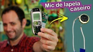 Faça um microfone de lapela com celular velho