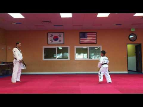 Kids Taekwondo Black Belt Test