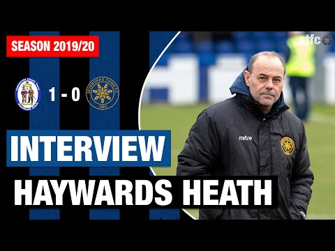 Interview : Micky Collins Post Match Haywards Heath Town (A)