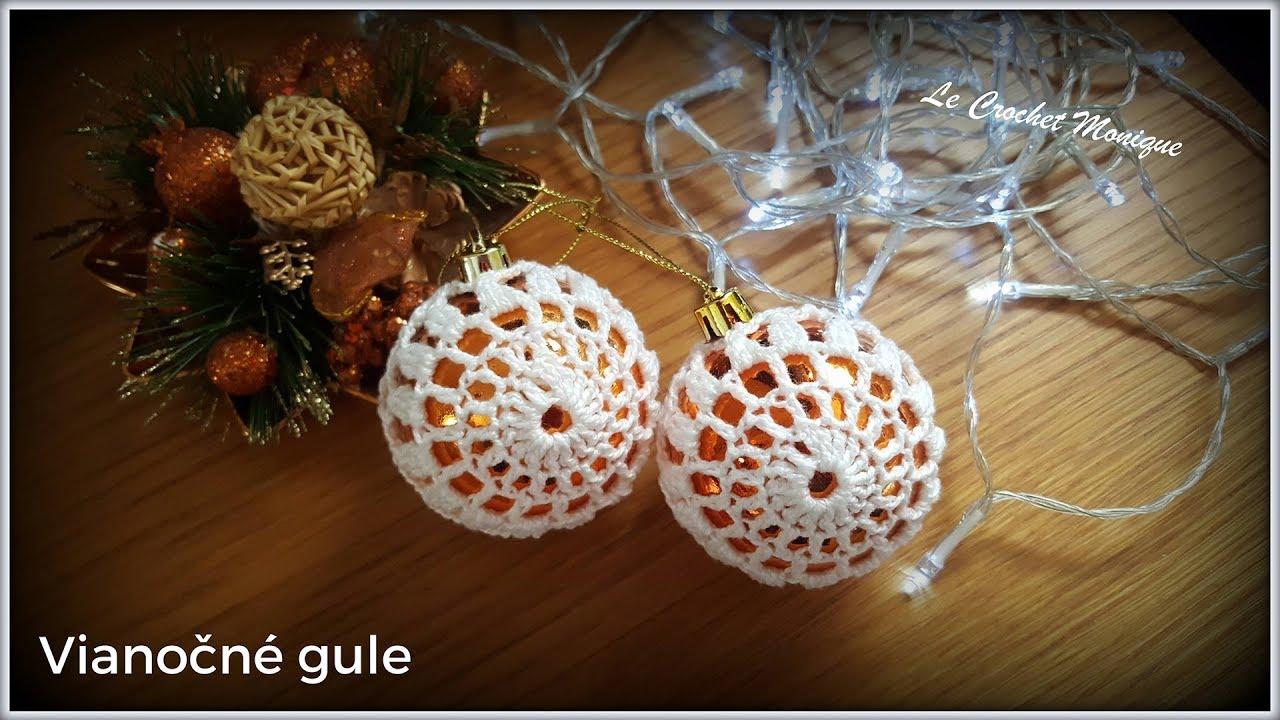 0d2d52e61 Vianočné gule/Crochet Christmas baubles (english subtitles) - YouTube