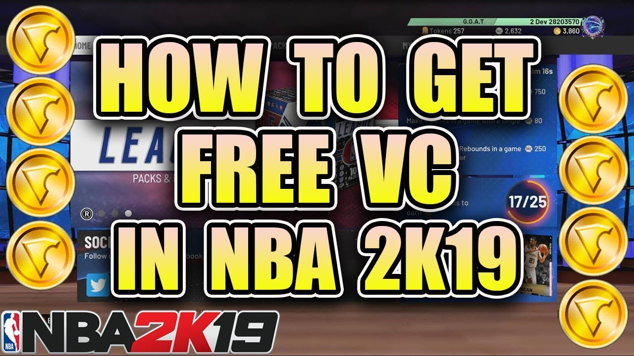 HOW TO GET FREE VC IN NBA 2K19!