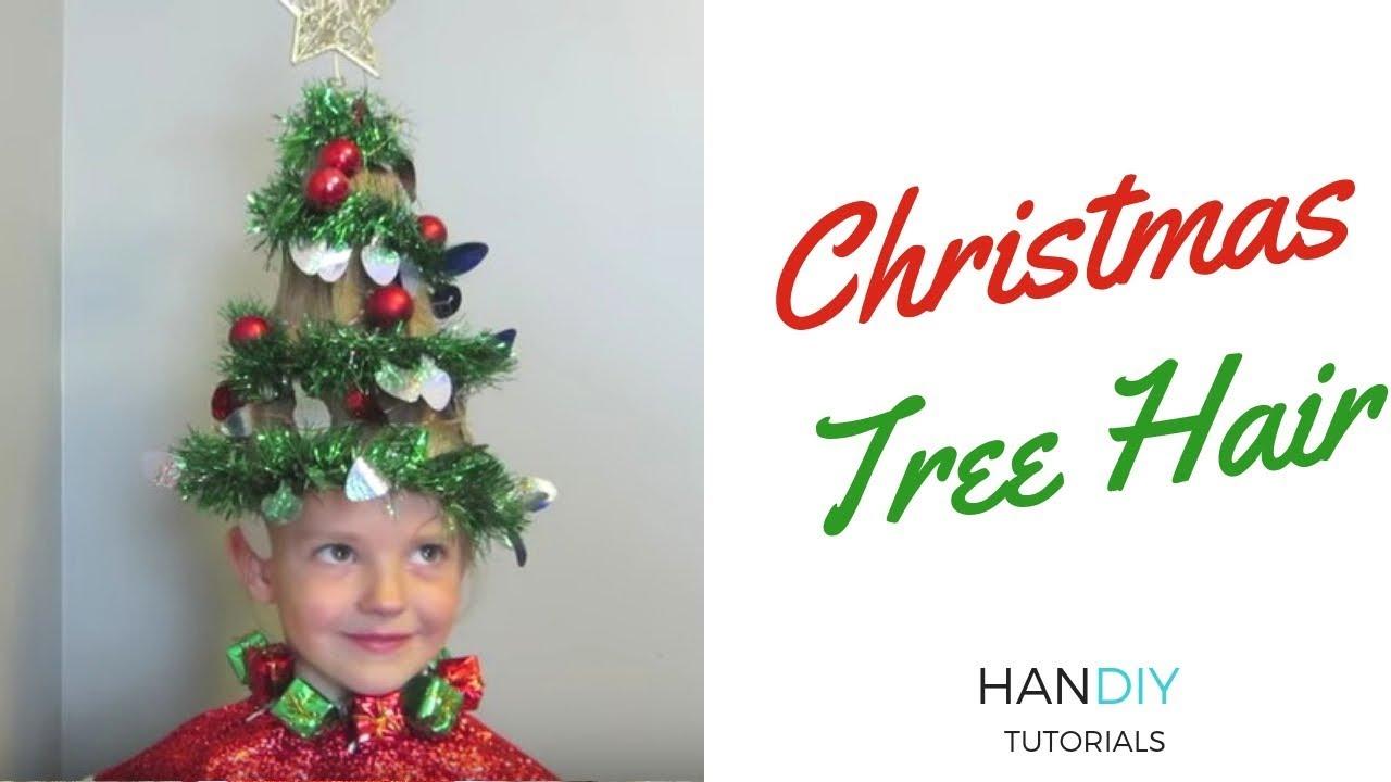 christmas tree hair tutorial
