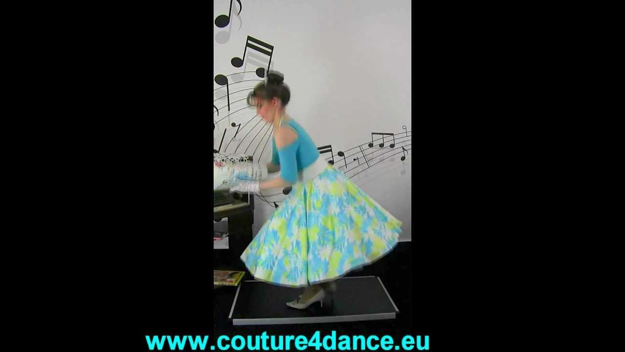 Tellerrock / Circleskirt Blau-Grün + Shirt Julia,Türkis + Petticoat Cinderella
