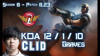 SKT T1 Clid GRAVES vs ELISE Jungle - Patch 8.23 KR Ranked