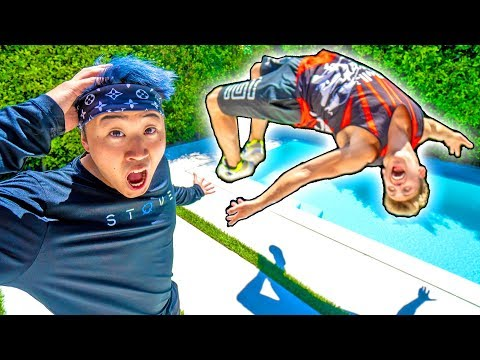Lizzy Sharer's Ex Boyfriend Teaches Me How to Backflip (ft Bailey Payne)