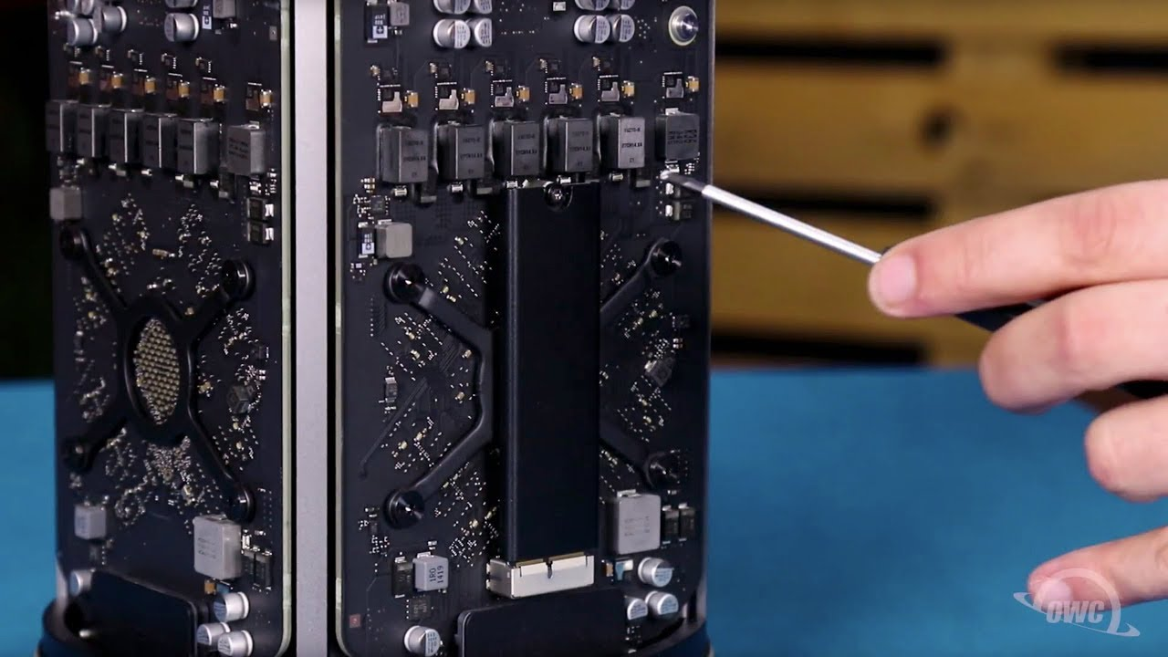 How to Upgrade the SSD in a 2013 Mac Pro with the OWC Aura Pro X