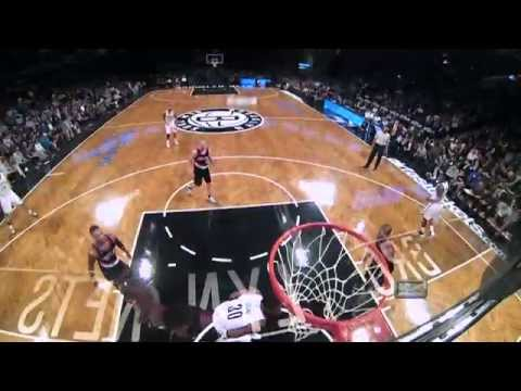 Thaddeus Young Drives and Smashes on Meyers Leonard