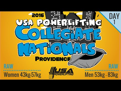 Day 1 - USA Powerlifting Collegiate Nationals (Raw)