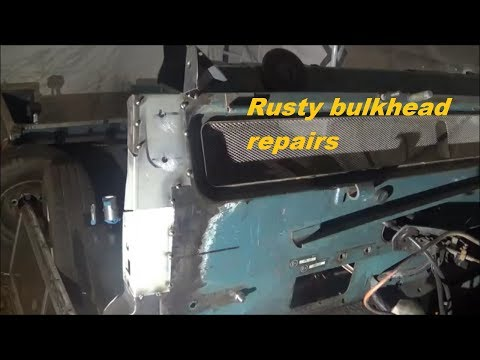Land Rover Series 3 Restoration  – bulkhead repair