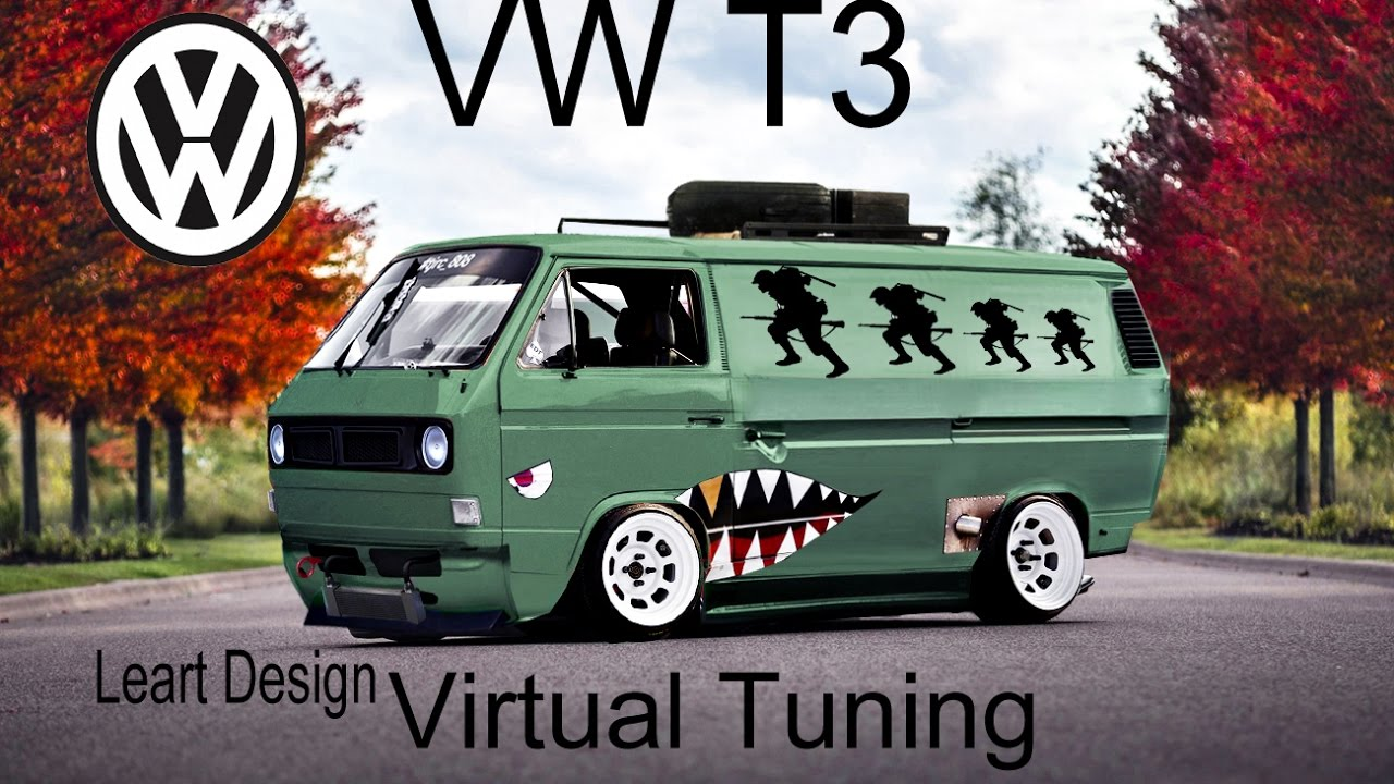 virtual tuning vw t3 photoshop youtube. Black Bedroom Furniture Sets. Home Design Ideas