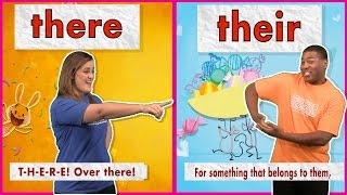 Their vs. There - Sing & Spell Sight Words