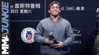 Urijah Faber says he accepted a fight with Conor McGregor before Nate Diaz stepped in