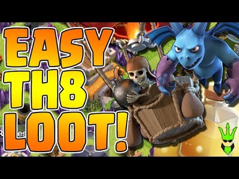 EASY TH8 LOOT! - Triple Heal Loonion - Clash of Clans - Town Hall 8 Dark Elixir Farming Strategy
