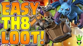 EASY TH8 LOOT! - Triple Heal Loonion - Clash of Clans - Town Hall 8 Dark Elixir Farming Strategy