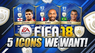 Fifa 18 5 icons we want!