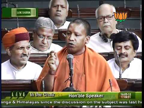 Yogi Adityanath Speech in Parliament on Conservation of Ganga and himalaya.