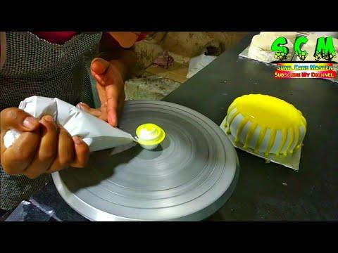 1kg Rund Shape Cake Yellow Glaze Sunil Cake Master