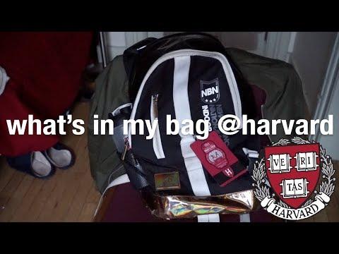 What's In My Backpack | Harvard University