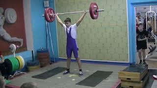 Останин Деис, 13 лет, вк 56 Рывок 22 кг