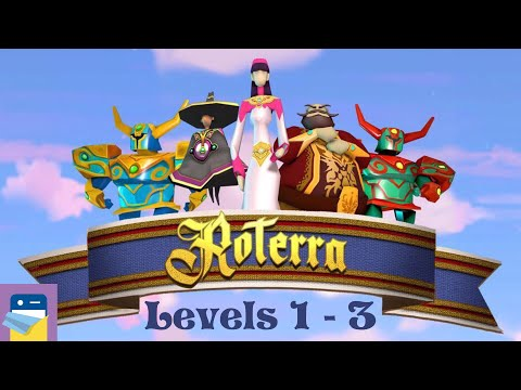 Roterra - Flip the Fairytale: Levels 1 2 3 Walkthrough & iOS / Android Gameplay (by Dig-It Games)