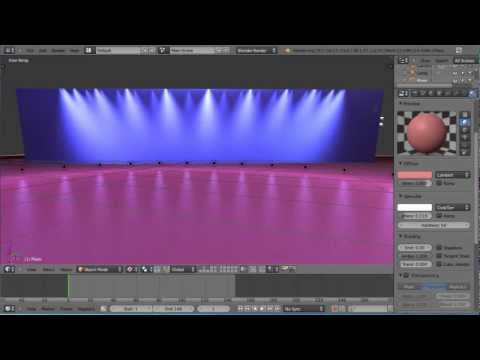 Blender 2.6 - Quick Tip Tutorial - Special Stage Lighting Effects