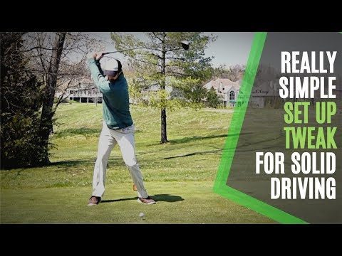 GOLF DRIVER SET UP TWEAK TO HIT IT SOLID: TOUCH YOUR KNEE SIMPLE GOLF TIP