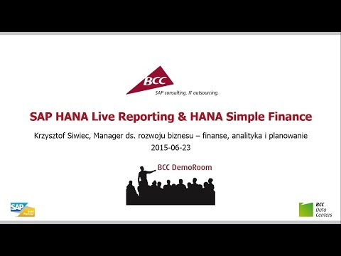 SAP HANA Live Reporting & HANA Simple Finance