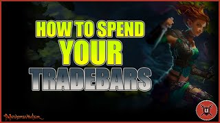 Neverwinter - How to Spend your Tradebars  ?
