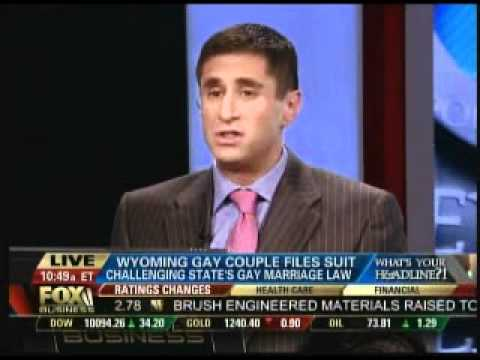 Bernard Whitman on Fox Business Argues Legalizing Gay Marriage Boosts Economy by $4 Billion, 8.26.10