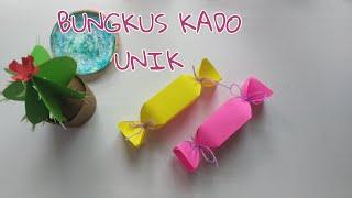 CARA UNIK DAN MUDAH MEMBUNGKUS KADO KECIL DARI KERTAS | 折纸糖果盒