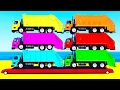 LEARN COLORS w Garbage Truck and Learn Numbers w Spiderman Cars Cartoon for Kids Learning Video