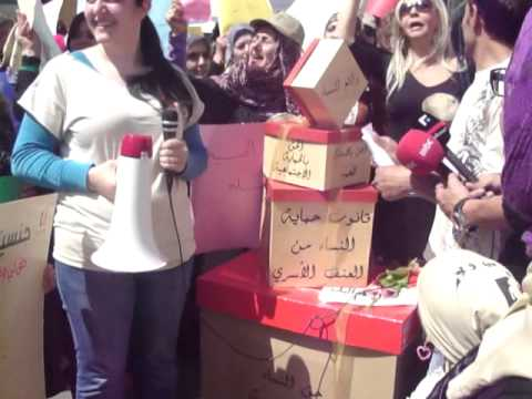 Protest by lebanese women to ask for the amendment of the Lebanese Nationality law by Rita Chemaly