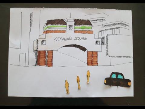KAWASAN KESAWAN DAN RESTORAN TIPTOP. MEDAN, INDONESIA.