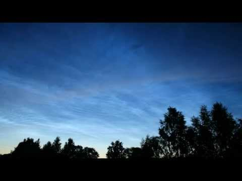 Noctilucent clouds Riga City