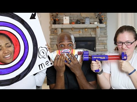 MARSHMALLOW GUN CHALLENGE | WOULD YOU RATHER