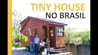 🇧🇷 Uma Tiny House Genuinamente Brasileira - Teaser Sobre Mini Chalé Sobre Rodas - Pés Descalços