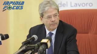 Lavoro -Il Presidente del Consiglio Paolo Gentiloni ad Avellino -  la conferenza stampa integrale