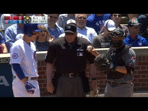 Rizzo hit in dome, playfully shoves Castillo