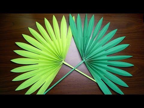 DIY PALM LEAVES EASY PAPER LEAVES CRAFTING VIDEO