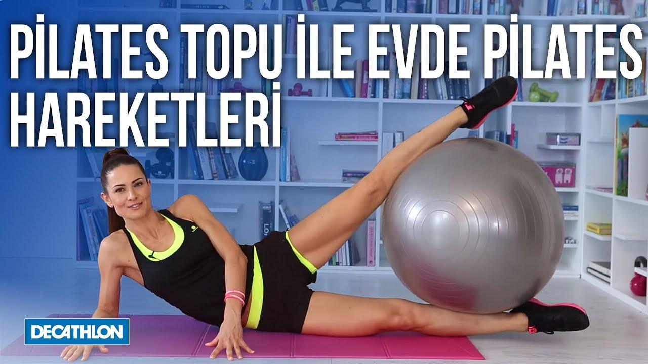 Pilates Topu ile Evde Pilates Hareketleri  - Decathlon Türkiye