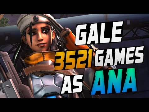 GALE 3521 GAMES AS ANA! HE'S BEST! [ OVERWATCH SEASON 10 TOP 500 ]