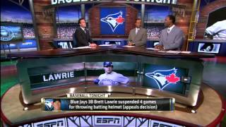 MLB: Lawrie Suspended Four Games