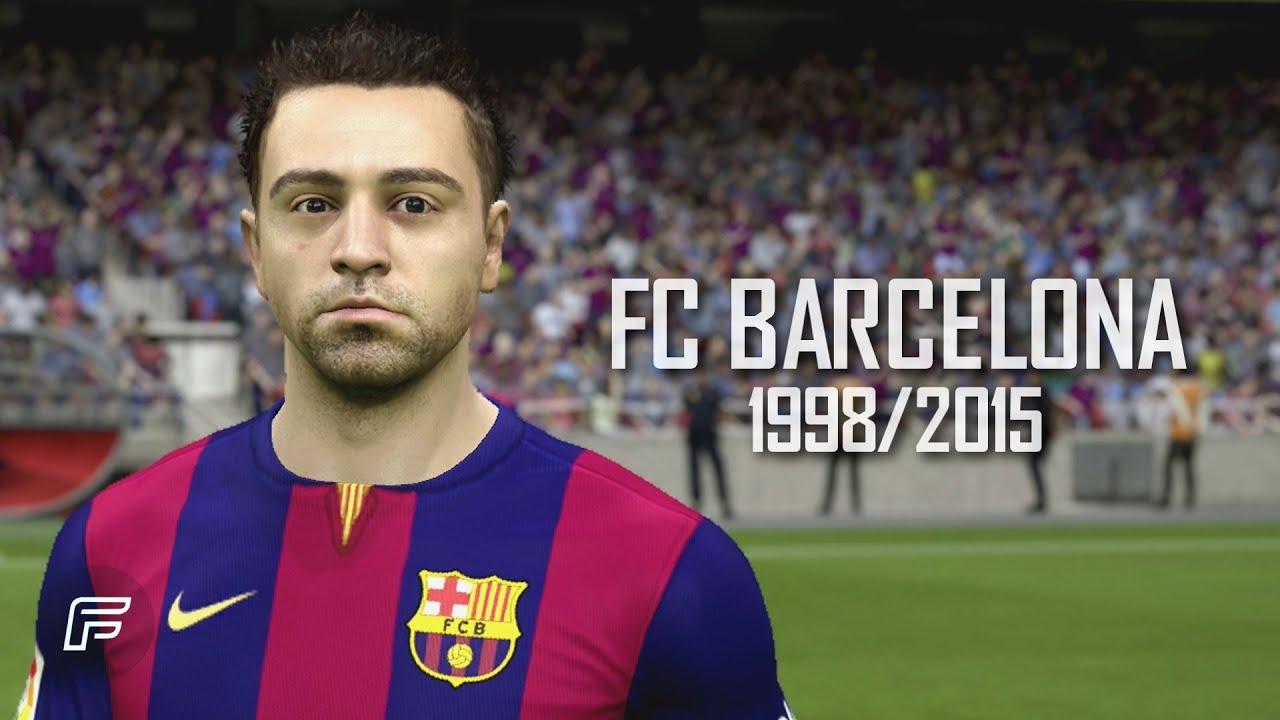 Xavi Hernández FC Barcelona 1998 2015 FIFA 15 Tribute