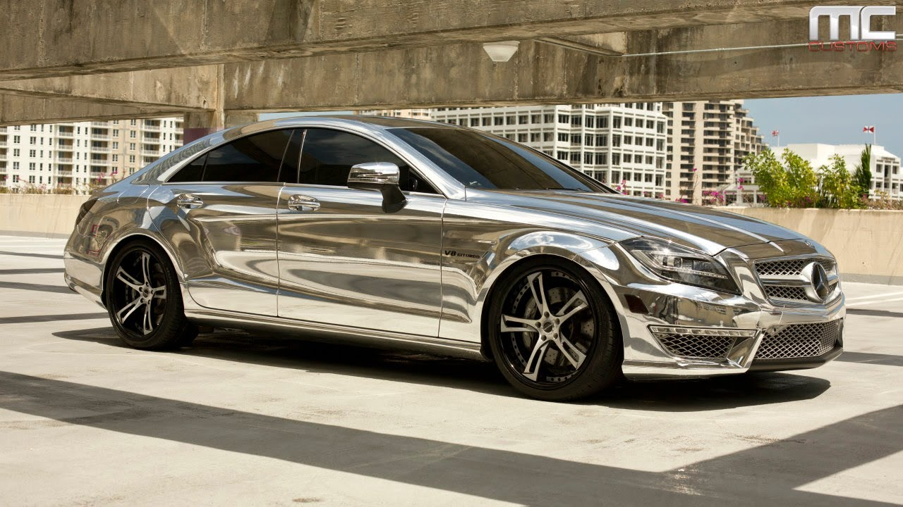 mc customs chrome mercedes benz cls63 savini wheels