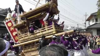 平成28年2月28日 堺市 櫻井神社 上神谷地区だんじり祭り.