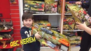 #abckerem Toyzz shop XL oyuncak mağazası NERF oyuncakları   Kerem vs Efe alışveriş vlog   ABC KEREM